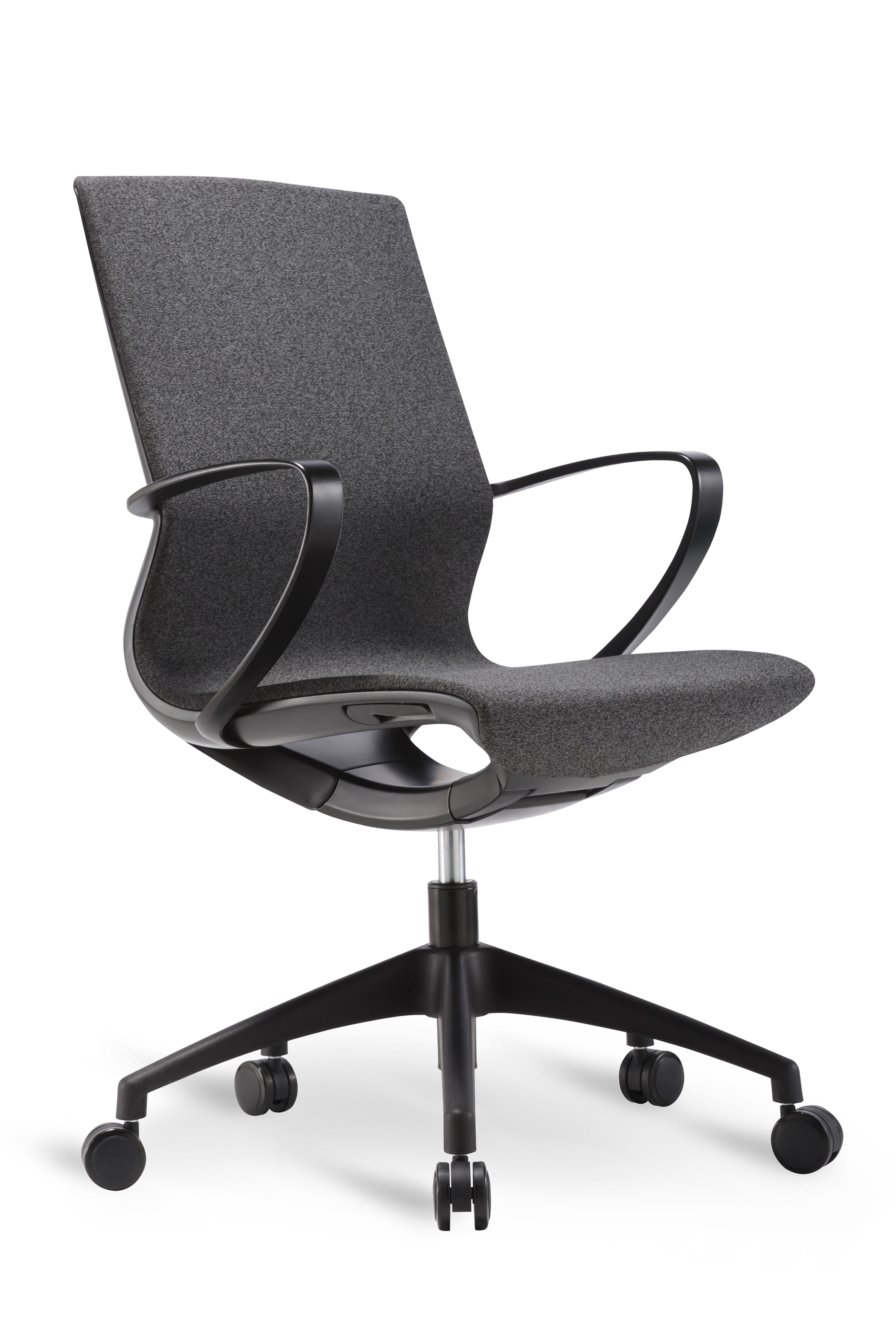 WS - L19 multipurpose chair - Black (Front angle)